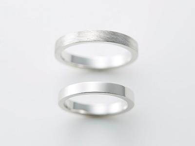 プラチナ 平打ち 結婚指輪