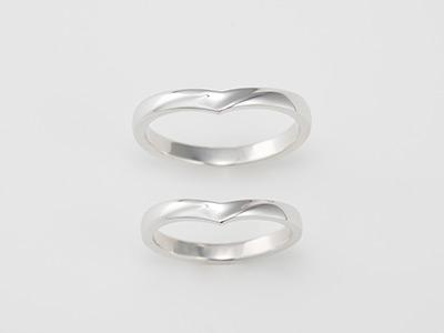 ウェーブデザイン 結婚指輪