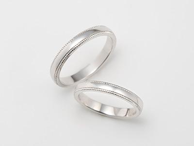 ミル打ち ミルグレイン 結婚指輪