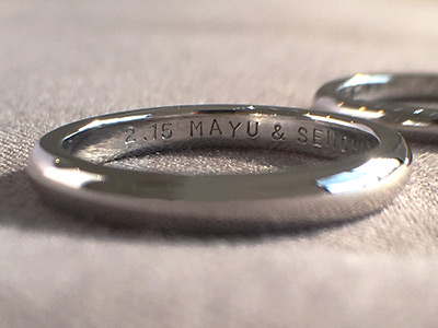 手打ち 刻印 結婚指輪