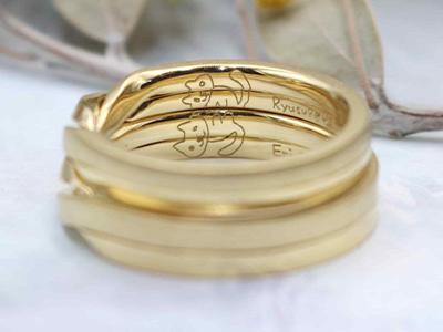 誕生石 結婚指輪