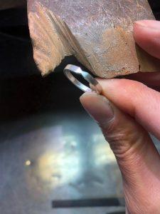 結婚指輪の原型製作11