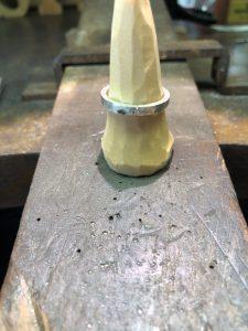 結婚指輪の原型製作8