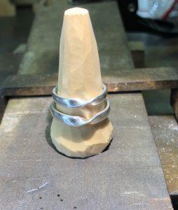 結婚指輪ひねりリング原型10
