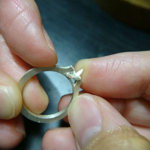 結婚指輪製作 取巻きエンゲージリング13