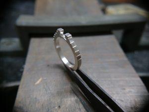 結婚指輪製作 取巻きエンゲージリング16