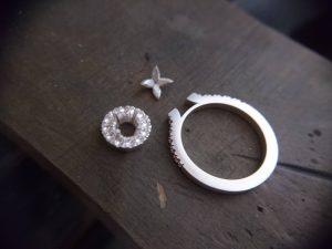 結婚指輪製作 取巻きエンゲージリング23