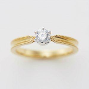 ミルグレイン アンティーク 婚約指輪