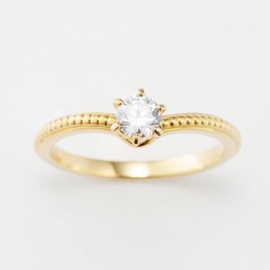 ミル打ちのクラシック(クラシカル)な婚約指輪