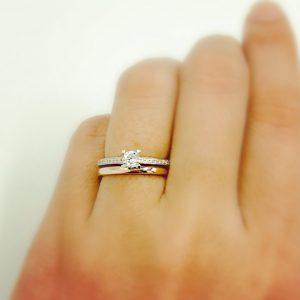 重ね付け 結婚指輪 婚約指輪