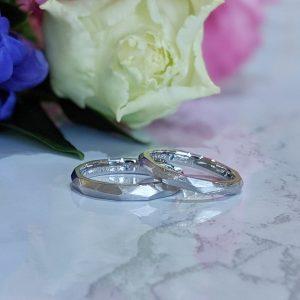 多面の結婚指輪 マリッジリング