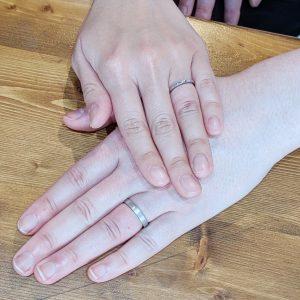 結婚指輪 お客様 手
