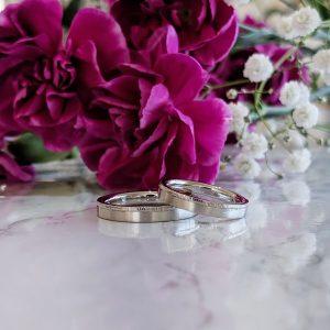 ヘアラインの結婚指輪 マリッジリング