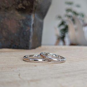 結婚指輪 ミルグレイン