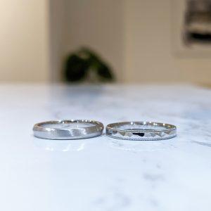 結婚指輪 鎚目