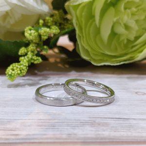 二つの要素を組み合わせたこだわりたっぷりの結婚指輪