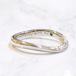 結婚指輪 刻印 誕生石