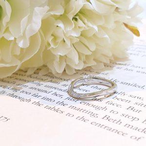 結婚指輪 S字 カーブ
