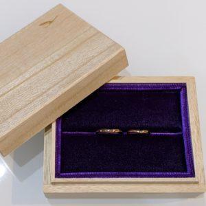 結婚指輪の納品ケース