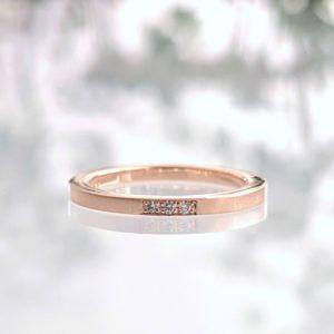 ピンクゴールドの婚約指輪