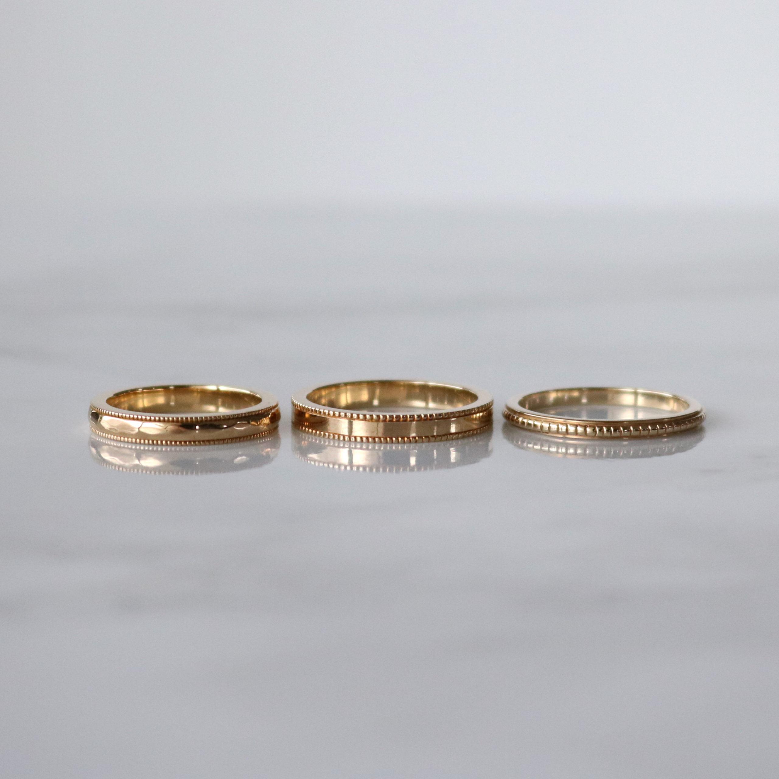 ミルグレイン(ミル打ち)の結婚指輪