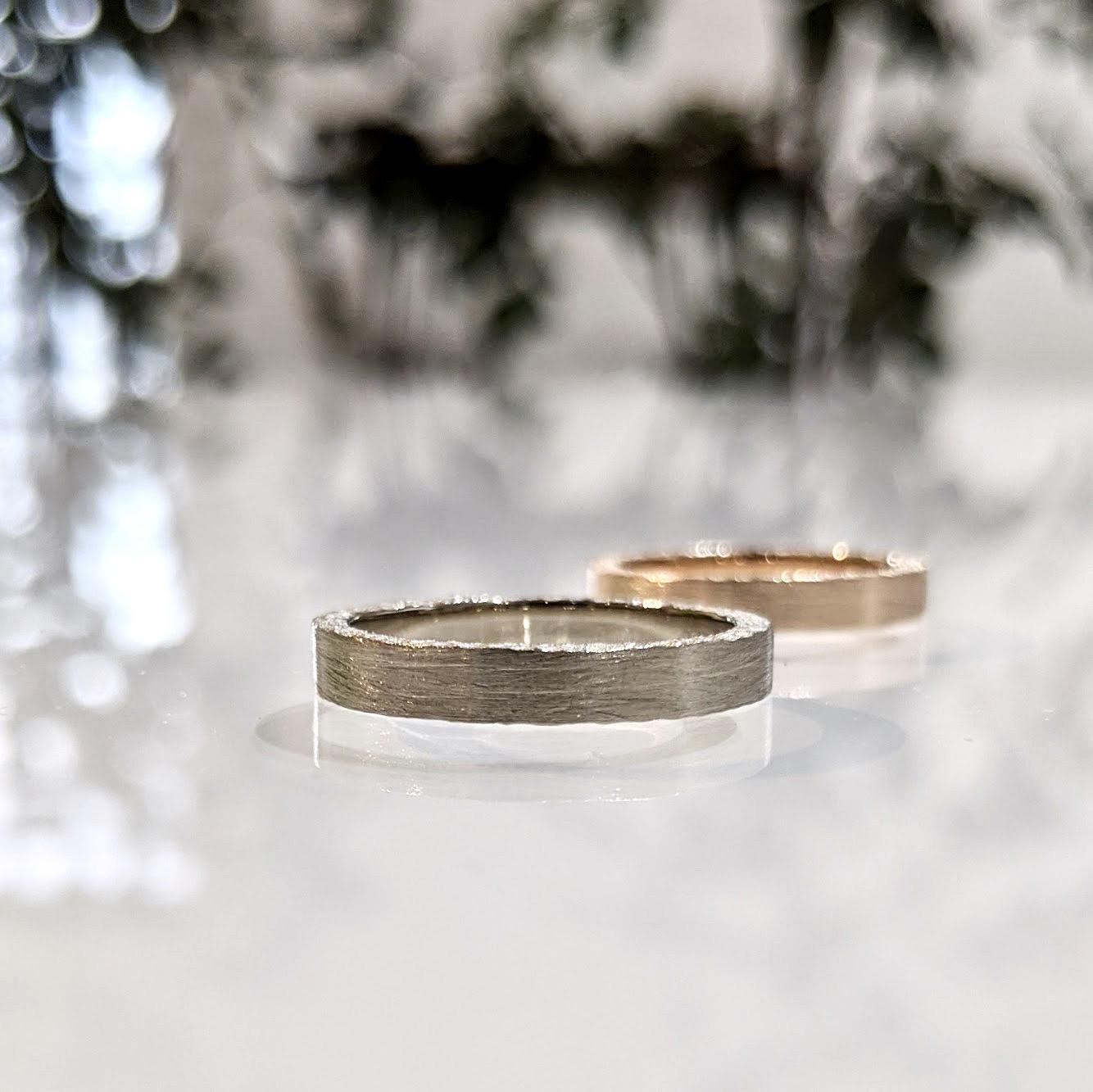 ホワイトゴールドの結婚指輪|おしゃれなデザインの紹介