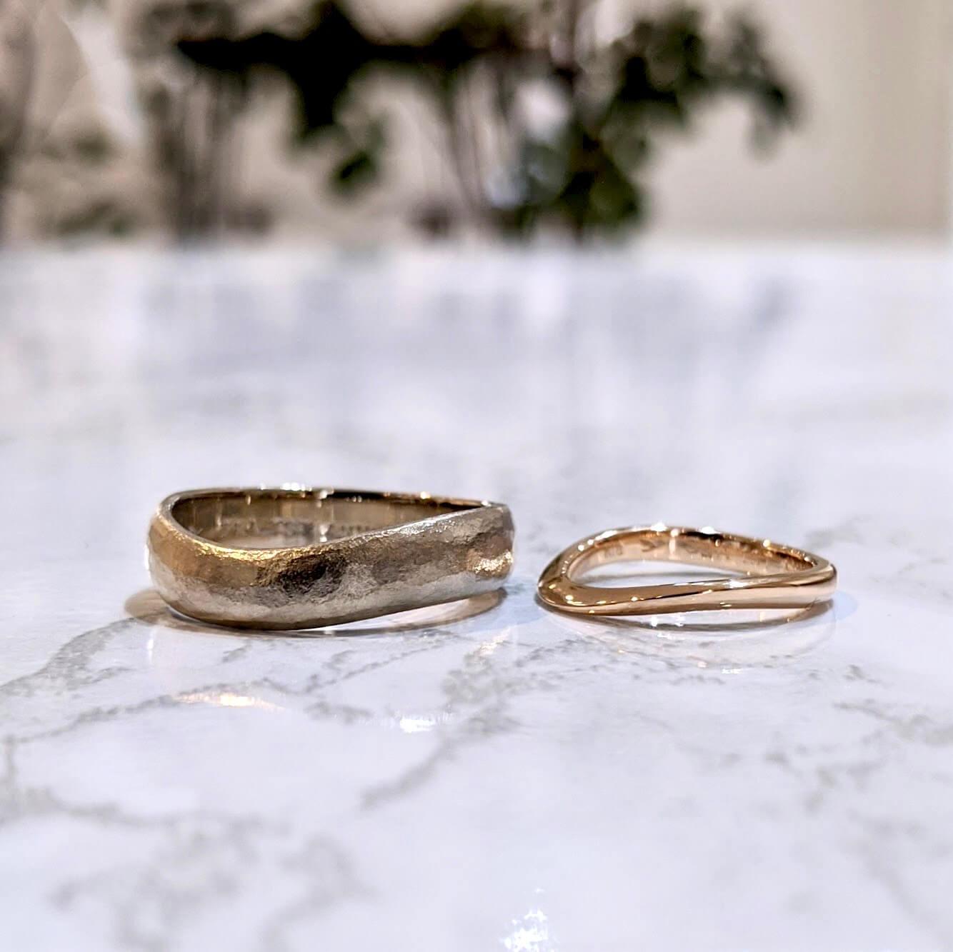 太めと細めの結婚指輪|さまざまなデザインの紹介