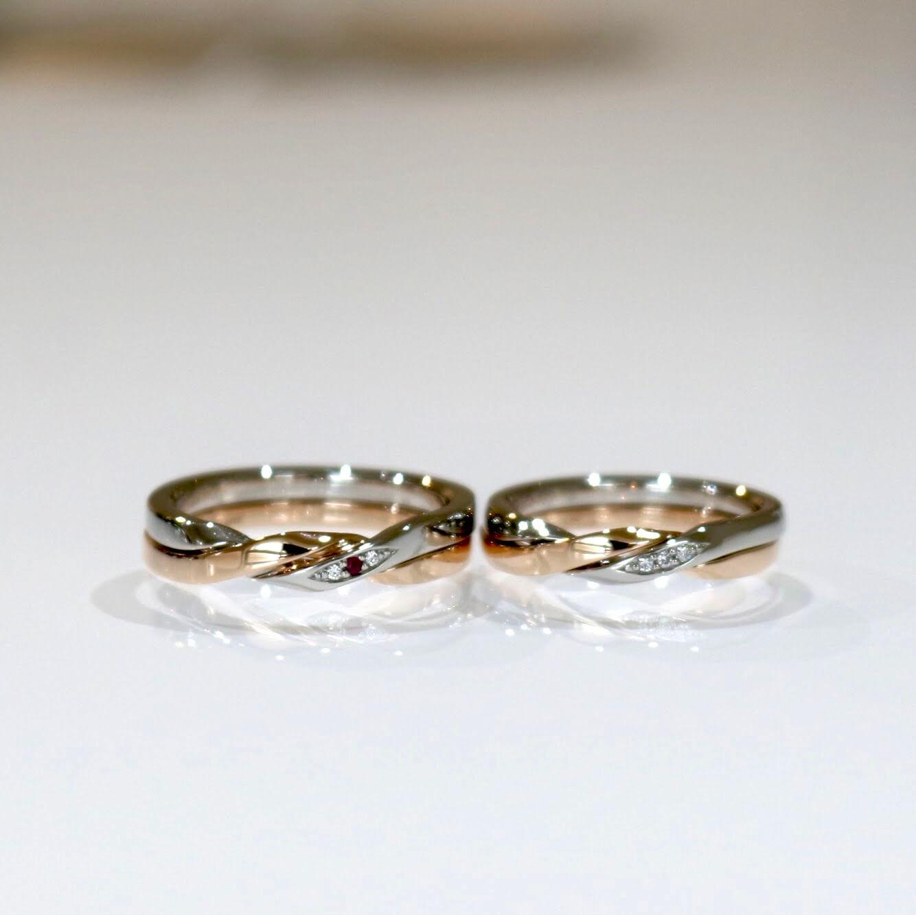 個性的なデザインの結婚指輪|オーダーメイド実績の紹介