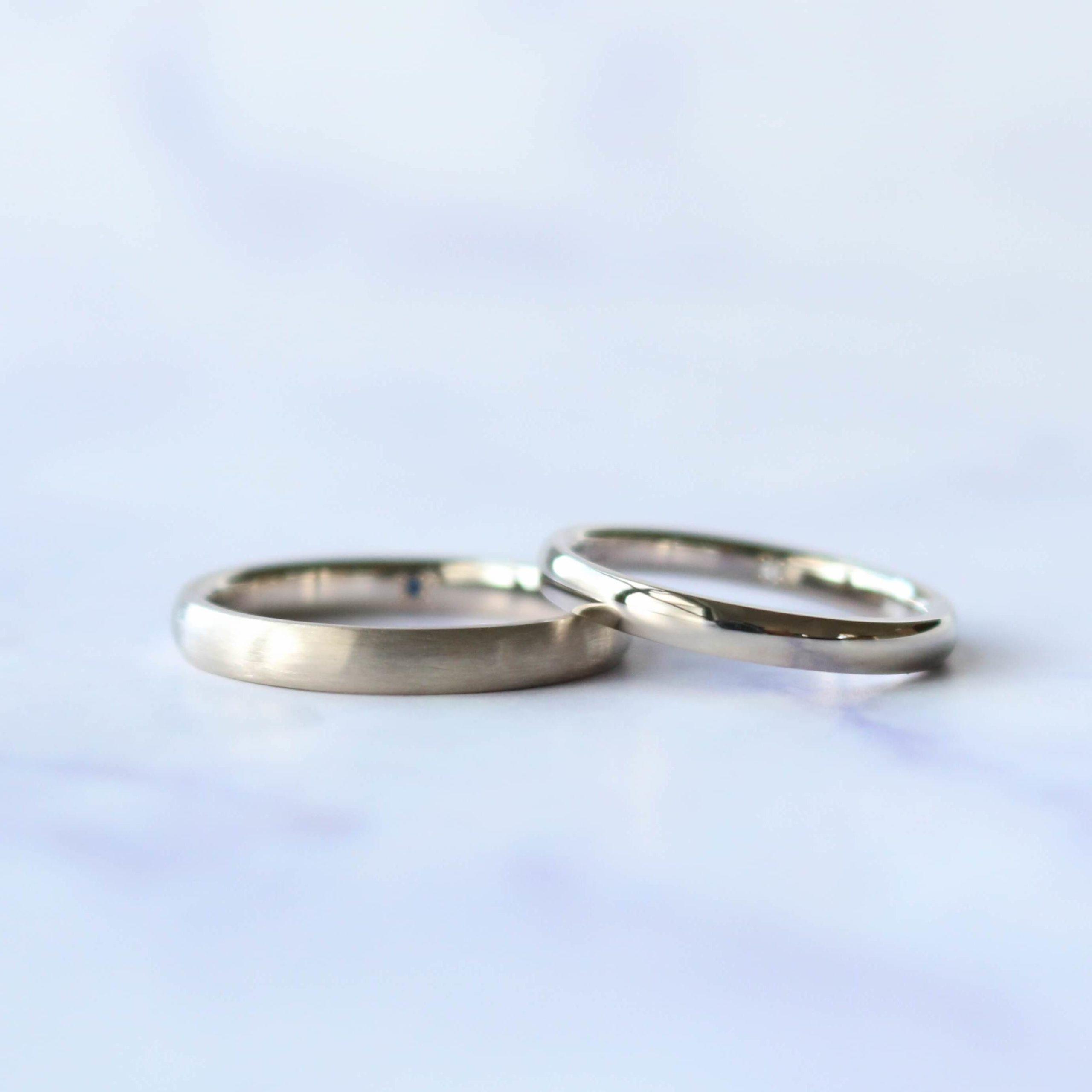シンプルさを大切にした、お揃いの結婚指輪