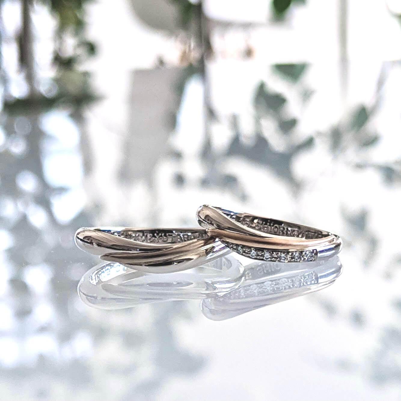 バイカラー(コンビリング)の結婚指輪|魅力とデザインの紹介