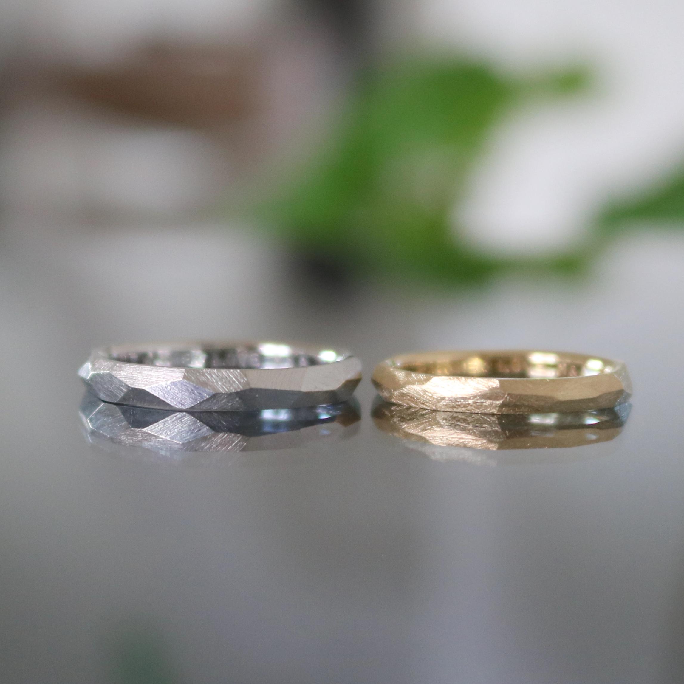 マットな結婚指輪