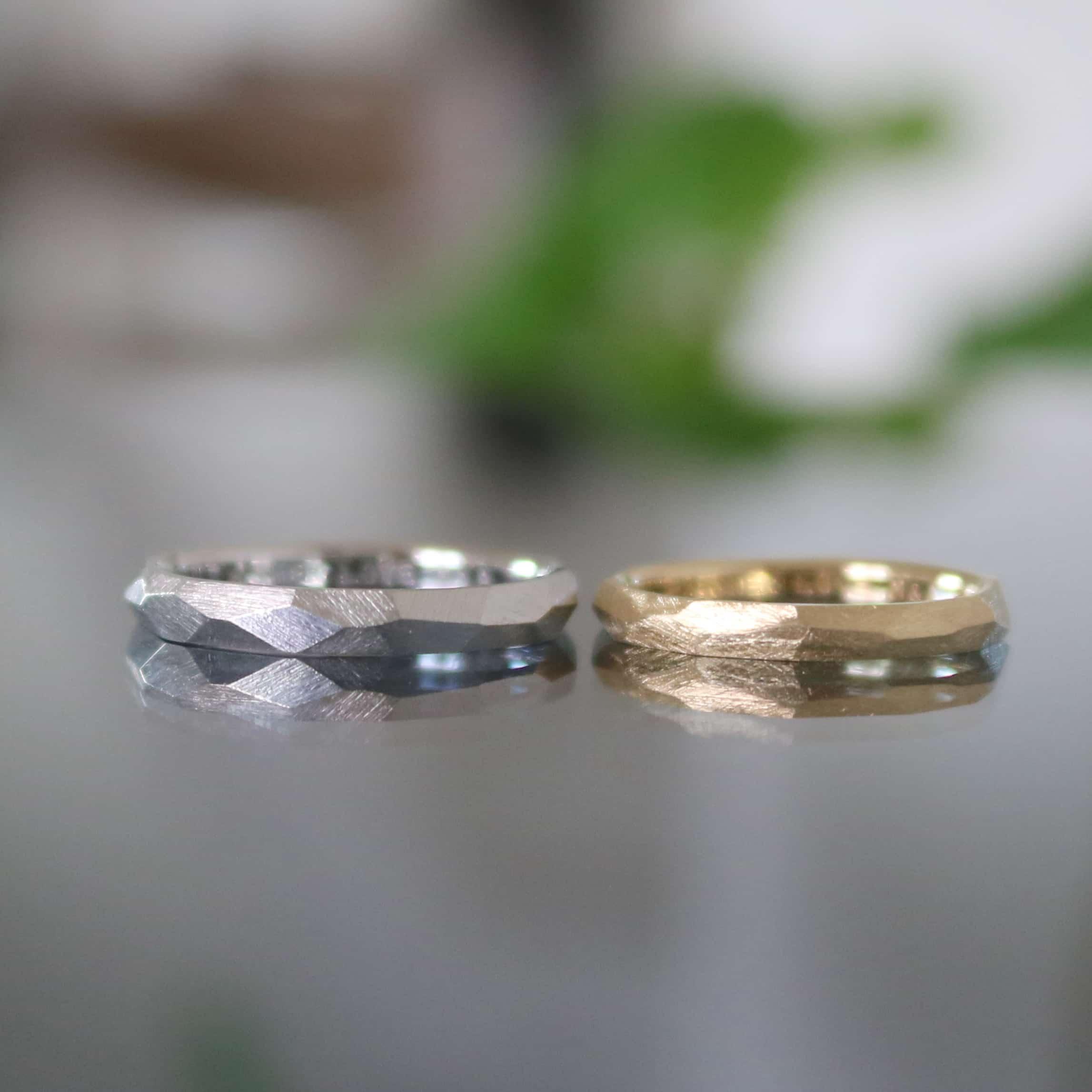 つや消しの結婚指輪