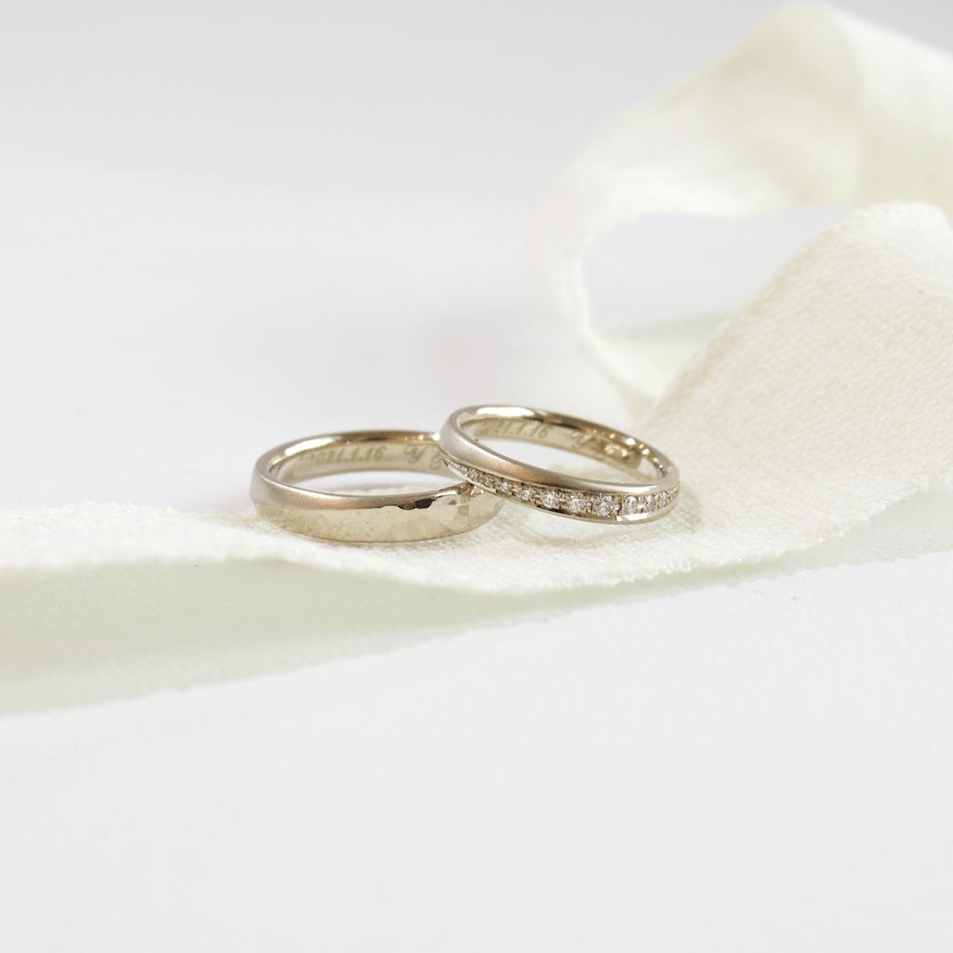 半剣腕の結婚指輪