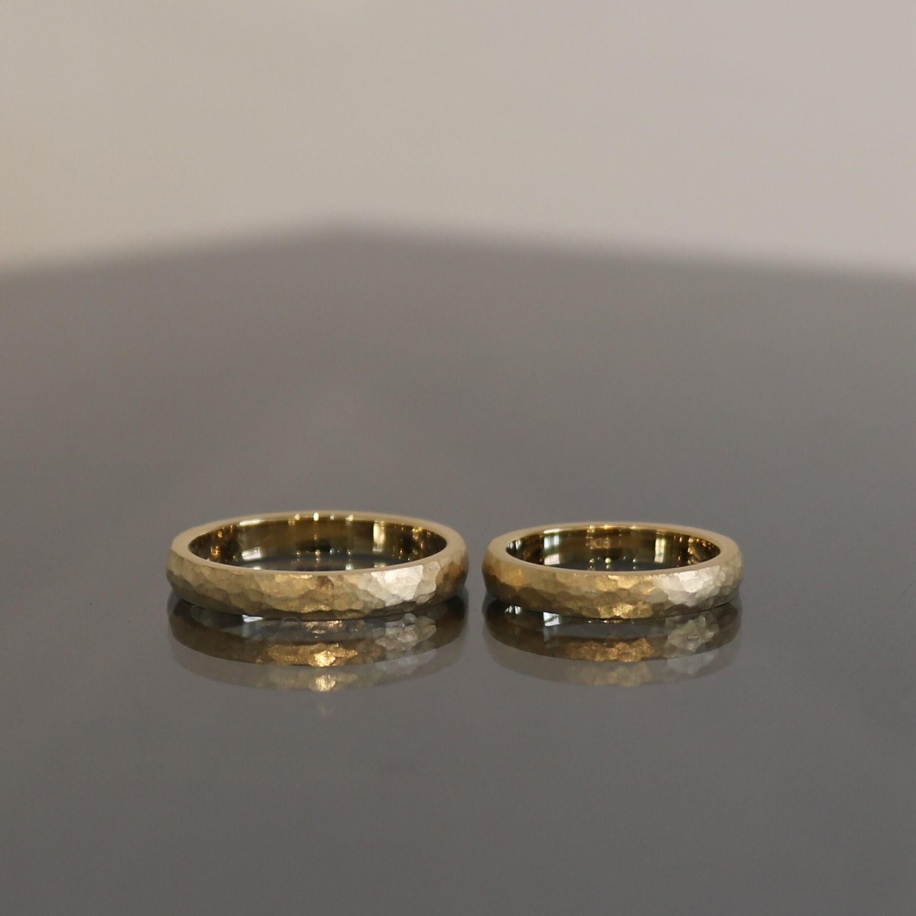 ゴールドの結婚指輪について|デザインとオーダー実績の紹介
