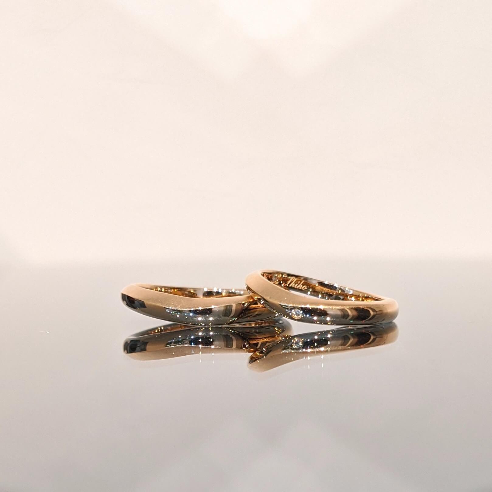 ピンクゴールドの結婚指輪について|デザインとオーダー実績の紹介