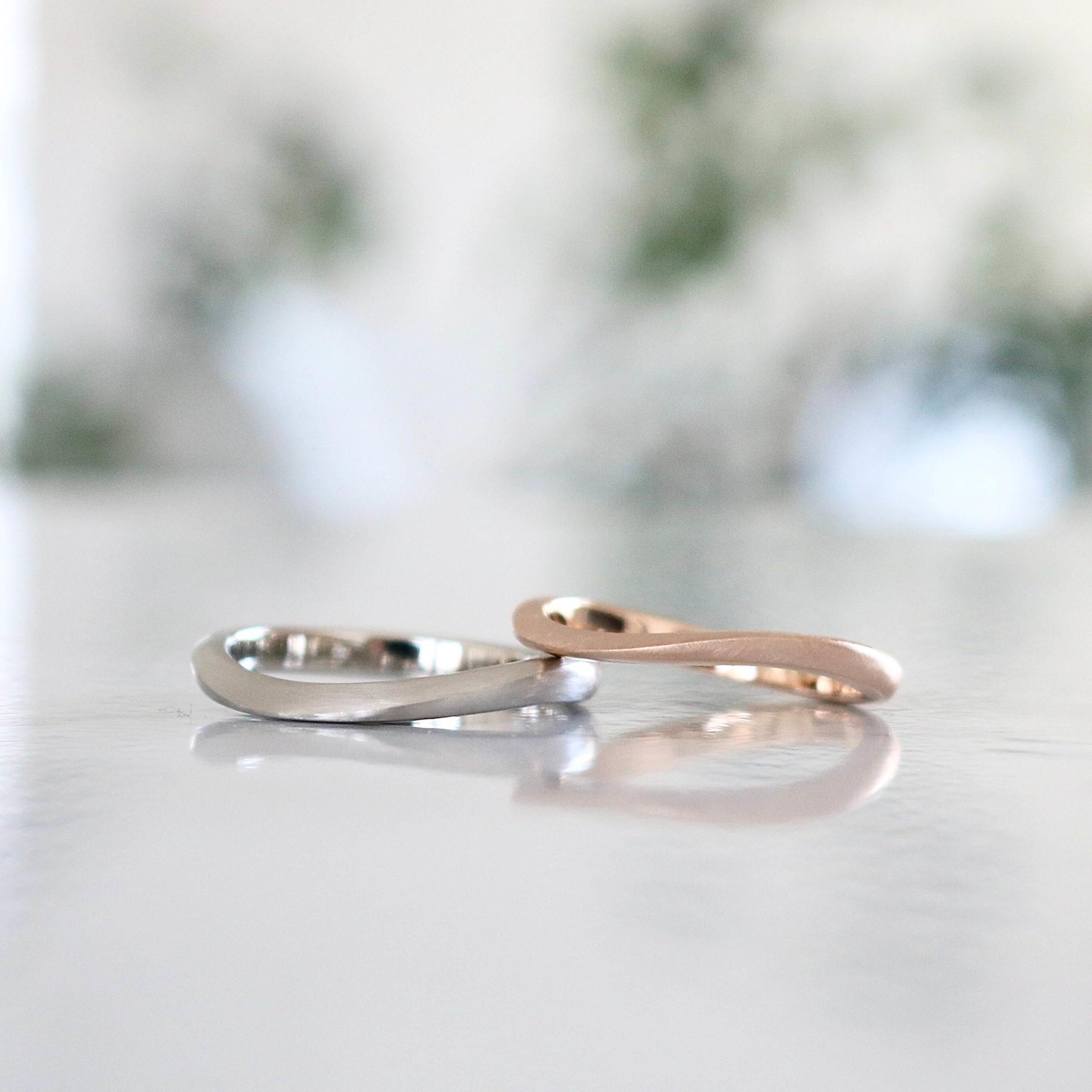 S字フォルムの結婚指輪