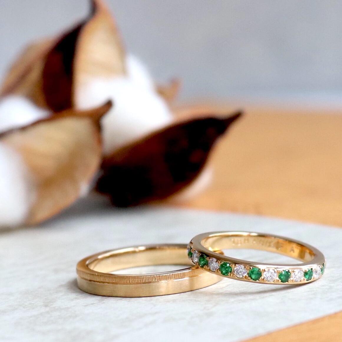 お揃いじゃないオーダーメイドの結婚指輪