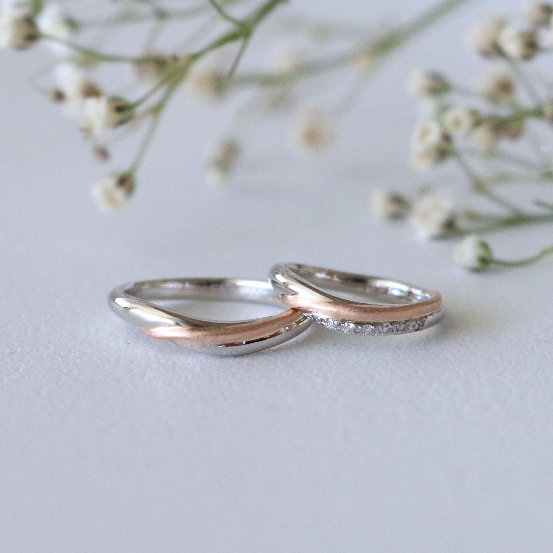 ダイヤモンドを留めた結婚指輪について|デザインとオーダー実績の紹介