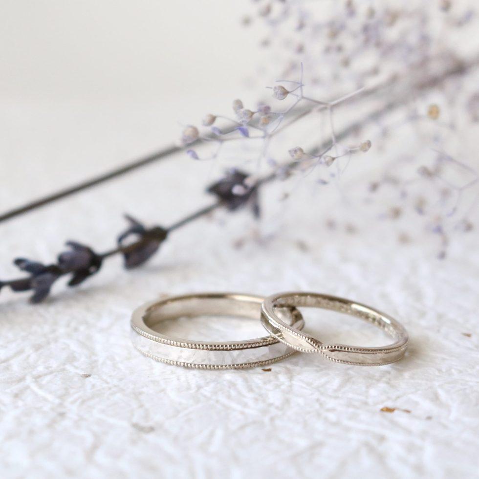 ミルグレンと槌目の結婚指輪